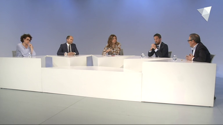 Tertúlia amb Judith Pallarès, Carles Jordana, Pere López i Joan Carles Camp