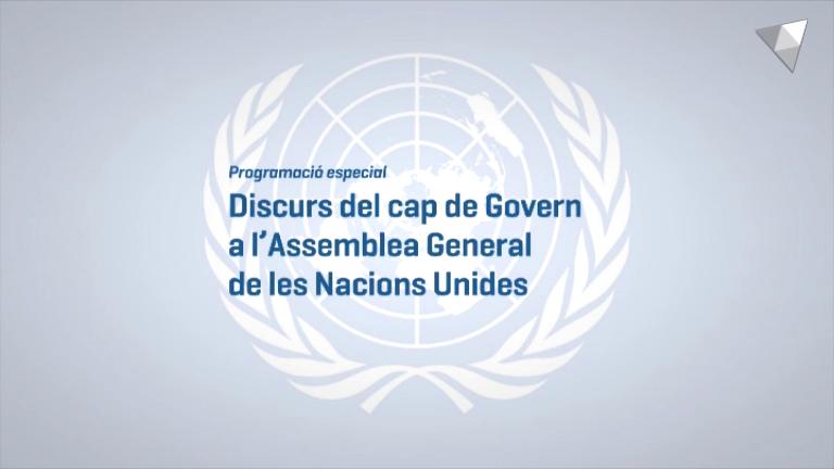Discurs del cap de Govern a la 73a Assemblea General de l'ONU