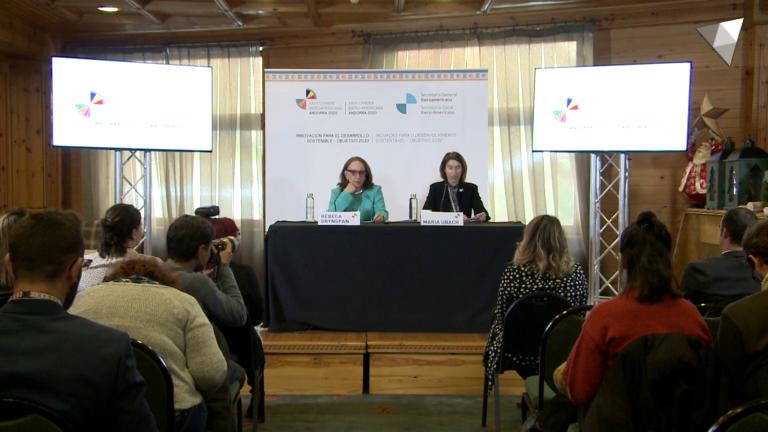 Roda de premsa sobre la I Reunió de ministres d'Exteriors de la Comunitat Iberoamericana en el marc de la Cimera