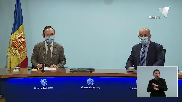 Roda de premsa COVID-19 i posterior al consell de ministres del 28 d'octubre del 2020