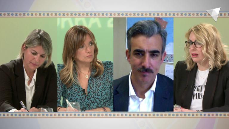 Taula rodona sobre polítiques de cooperació, amb Gemma Cano, Carla Riestra i Martín Rivero