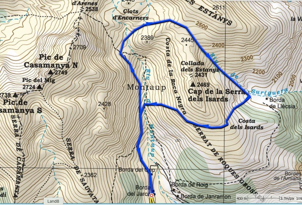 La volta Maria: Volta al Cap dels Isards