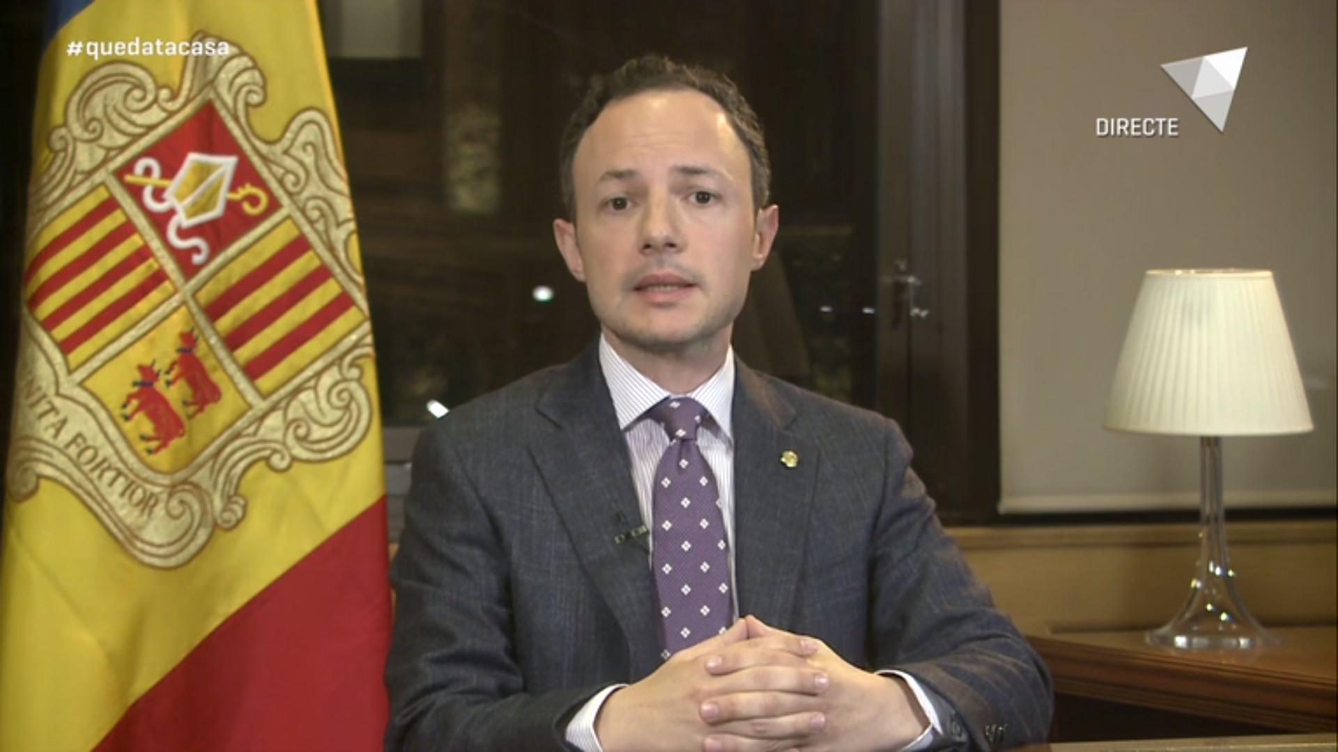 Missatge institucional del cap de Govern: noves mesures extraordinàries pel coronavirus